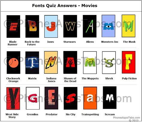 Fonts Quiz Answers