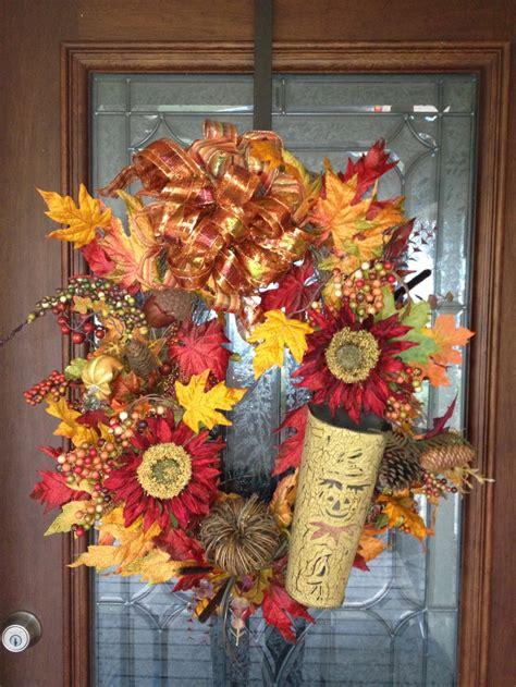 Fall Front Door Wreaths Fall Wreath For Front Door Autumn Wreaths