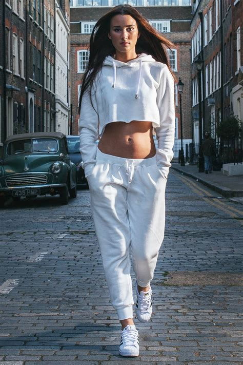 Set Hodie retrovillage retro jogger cropped hoodie tracksuit set