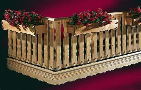 Balkongeländer Holz Einzelteile by Holzbalkongel 228 Nder Holz Balkongelaender Holzkomplett De