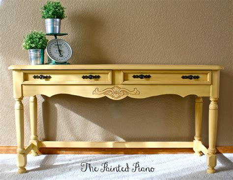 Console Table A Design Change Plus Five Finish Options Yellow Sofa Table