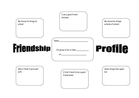 pshe themes ks2 friendship profile ks1 ks2 pshe worksheet by