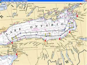 lake ontario canada map coast guard firing ranges