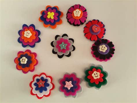 fiore di feltro fermagli fiore di feltro fatti a mano bambini