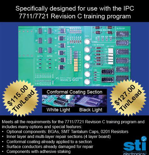 ipc section 405 7711 21c advanced rework repair certification kit tin lead