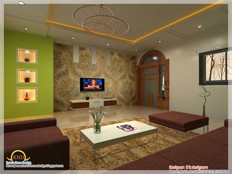Living Room Interiors Kerala Interior Design Idea Renderings Kerala Home Design And
