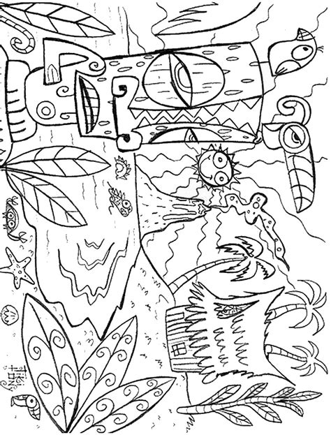 luau coloring sheets coloring pages