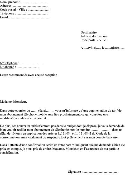 Lettre De Resiliation Orange Et Mobile Exemple Lettre Resiliation Orange Depart Etranger