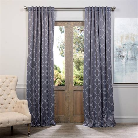 Blackout Drapes Home Decorators Collection Grey Faux Linen Back Tab