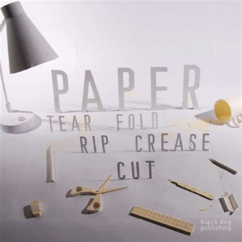 Paper Tear Fold Rip Crease Cut - paper sculpture techniques inspiration tutorials