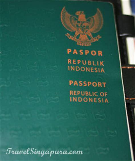 Membuat Paspor Ke Singapura | syarat membuat paspor indonesia travel singapura