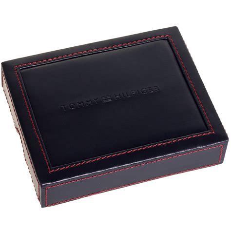 hilfiger s leather trifold billfold wallet w