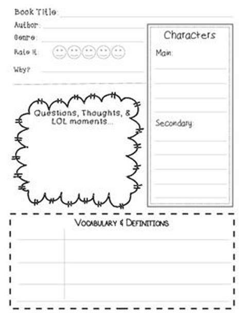 graphic organizers for book reports common book report graphic organizer comprehension
