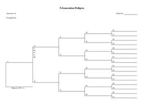 five generation pedigree chart template 6 best images of pedigree chart template free
