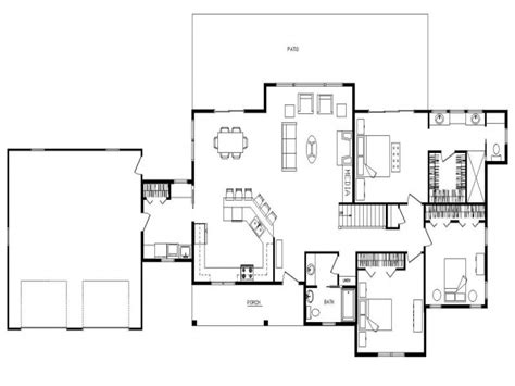floor plans home ranch open floor plan design open concept ranch floor