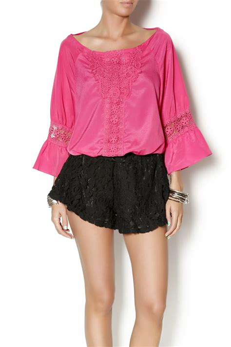 glam r us gathered waist crochet top from by glam r
