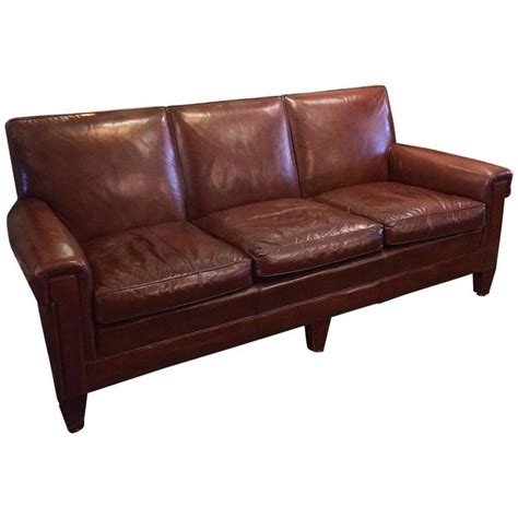 leather club sofa 1940s stately leather club sofa by the sikes furniture co at 1stdibs
