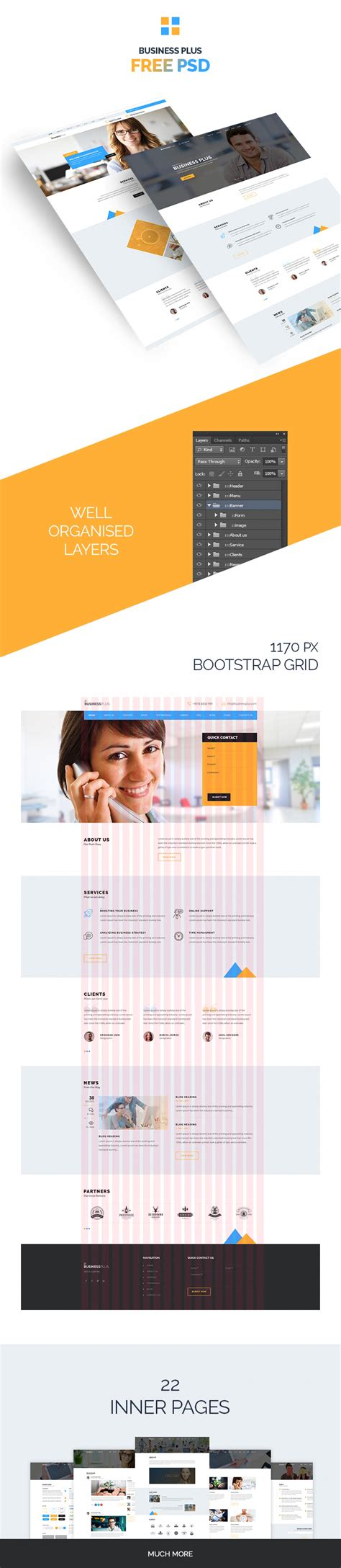 what is a psd template business plus psd template