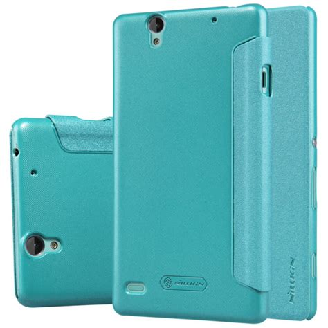 nillkin sparkle series new leather for sony xperia c4