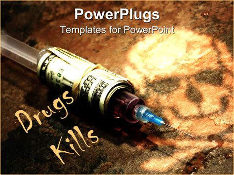 powerpoint themes free download drugs powerpoint template drug syringe covered in stack of