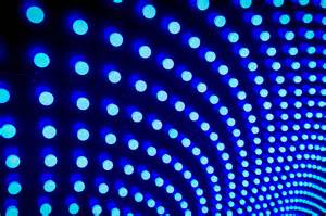 blue lights endless blue