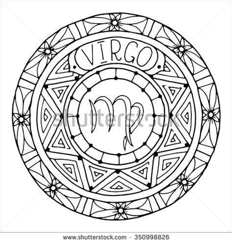 zodiac mandala coloring pages virgo tattoo stock photos images pictures shutterstock