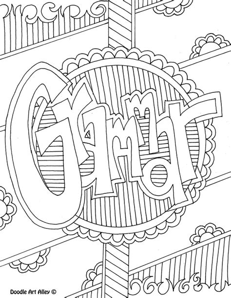 printable coloring pages esl subject cover pages coloring pages classroom doodles