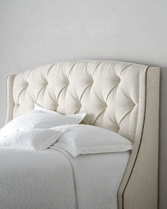 winged tufted headboard rami wing tufted headboard neiman