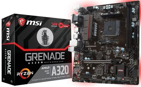 Motherboard Msi A320m Grenade msi unveils its a320m grenade am4 motherboard lowyat net