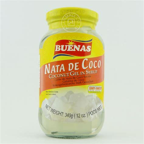 Tepung Powder Nata De Coco buenas nata de coco coconut gel in syrup 糖水椰果 340g h