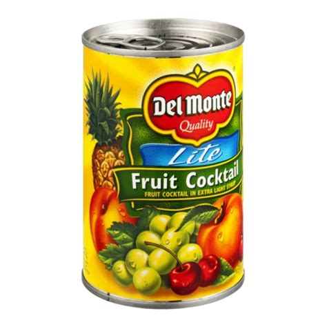 Delmonte In Syrup monte fruit cocktail lite in light syrup 15 0
