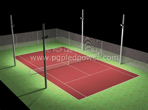 illuminazione ci da tennis vendita fari led ci calcetto e tennis pgp led power roma