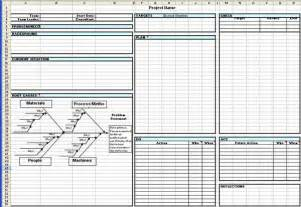 Qc Story Template by Toyota A3 Report A3 Report Template In Excel