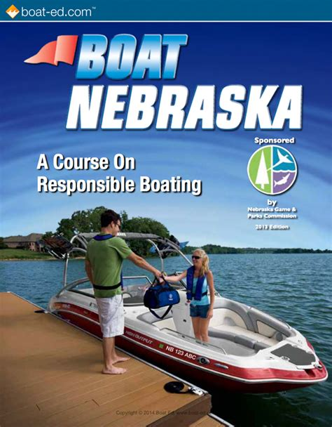 boat safety guide nebraska official boating student manual available for