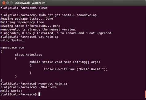 tutorial mono linux mono develop from linux c technology of computing