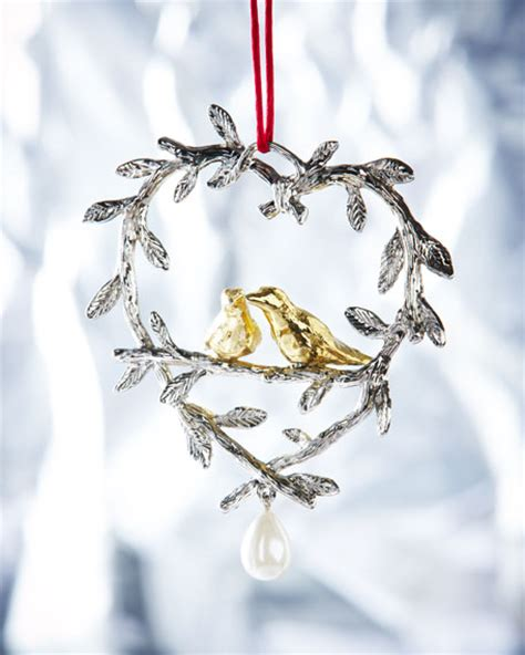 michael aram two turtle doves christmas ornament