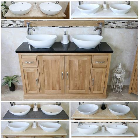 solid oak vanity units for bathrooms solid oak bathroom vanity unit twin sink bathroom