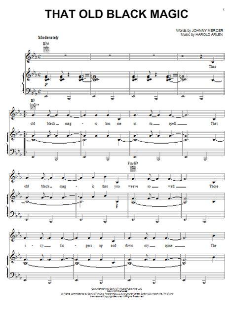 printable lyrics black magic that old black magic sheet music direct