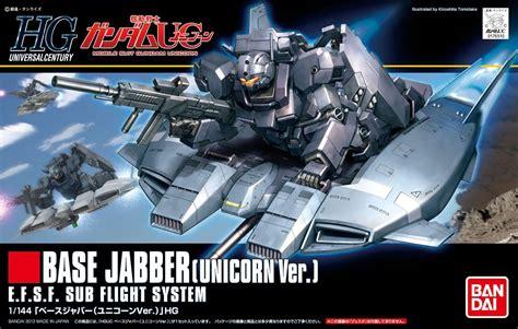 Hg 1 144 Base Jabber Original New Made In Bandai hguc 1 144 base jabber unicorn ver box new
