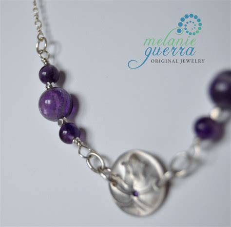 Handmade Amethyst Necklace - handmade amethyst and silver necklace