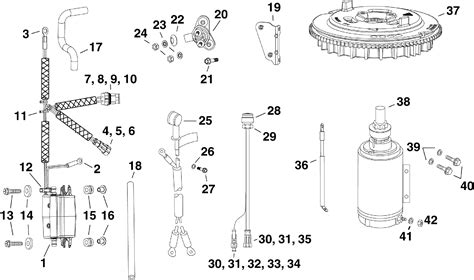 evinrude etec parts diagram electric start kit 25 30 hp e tec electrical