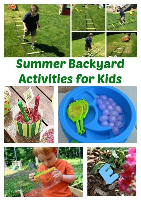 backyard kid activities summer backyard activities for kids the jenny evolution
