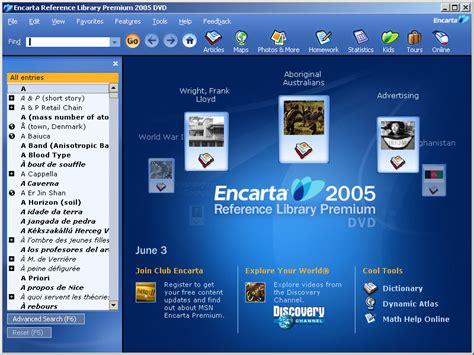 Microsoft Encarta microsoft encarta reference library premium 2005