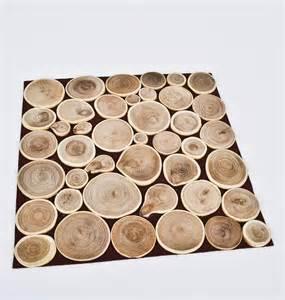holzscheibe tisch tisch set holzscheiben design platzset tischschutz
