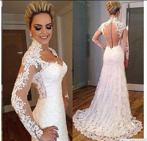 beaded vintage wedding dress aliexpress buy sleeves vintage lace mermaid