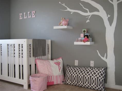 Grey And White Nursery Decor Mod Gray And Pink Nursery Design Dazzle