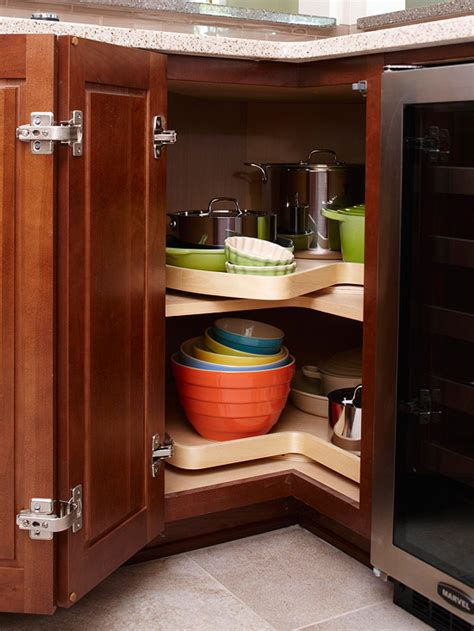 Kitchen Cabinet Turntable | 17 kitchen organization storage tips