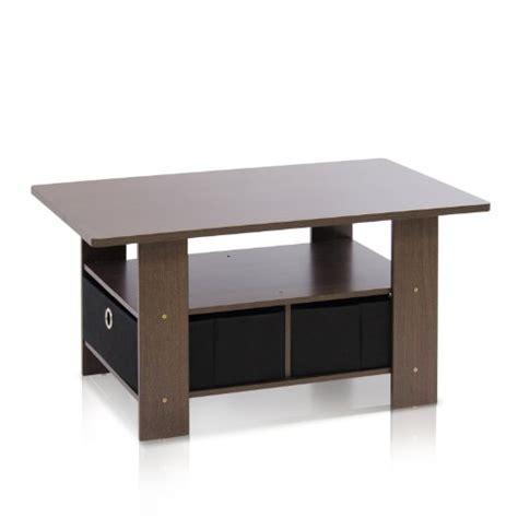 Brown Black Coffee Table Furinno 11158dbr Bk Coffee Table With Bins Brown Black New Ebay