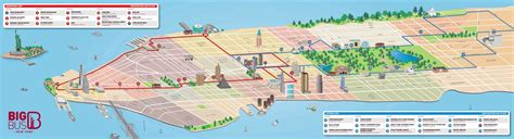 sightseeing map of nyc hop on hop new york map