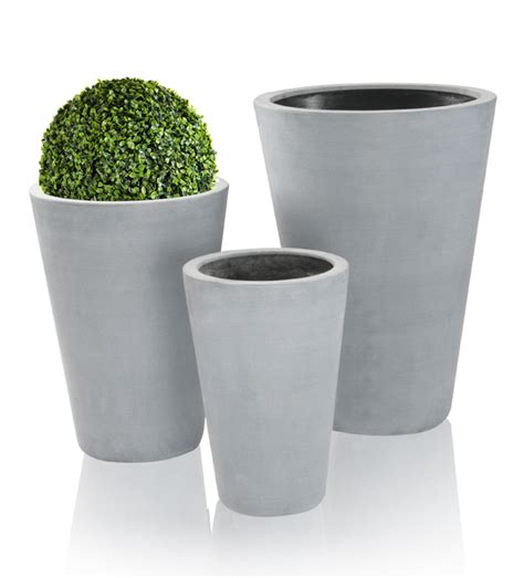 Polystone Planters by Grey Calgary Polystone Planters Mixed Set Of 3